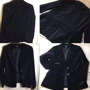 H&M Velvet Black Blazer Size 8